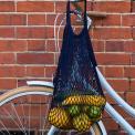 Navy blue 100% organic cotton string bag