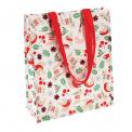 Nordic Christmas reusable plastic shopping bag