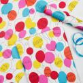 party balloons print gift wrapping paper