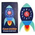 Space ship wooden wall clock