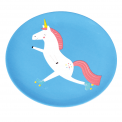 Unicorn Blue Melamine Plate