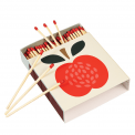 Vintage Apple Square Safety Matches