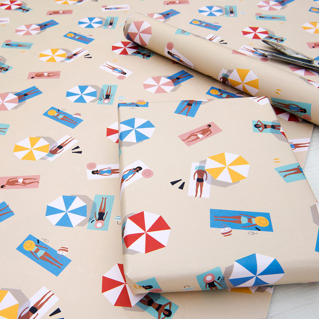 Sunbathers Wrapping Paper 5 Sheets Rex London