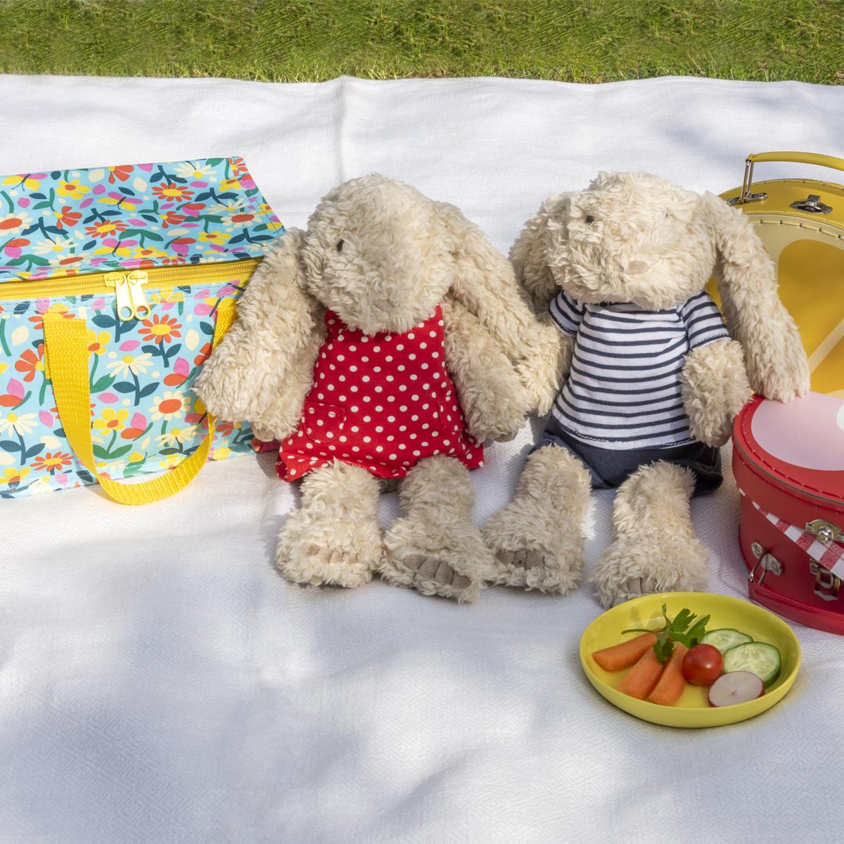 Teddy bears picnic in the garden