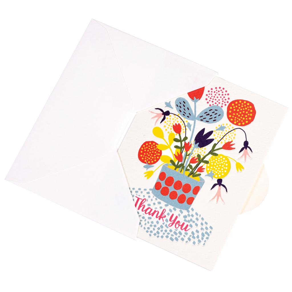 Flower Pot Thank You Card | Rex London (dotcomgiftshop)