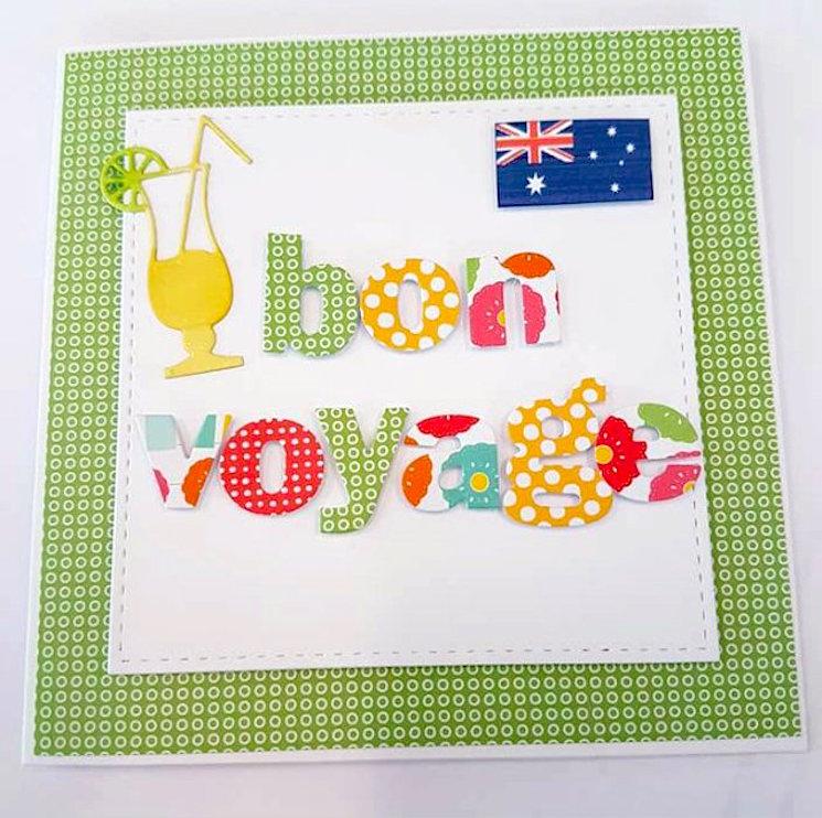 Goodbye greetings card from thehandmadecard blog