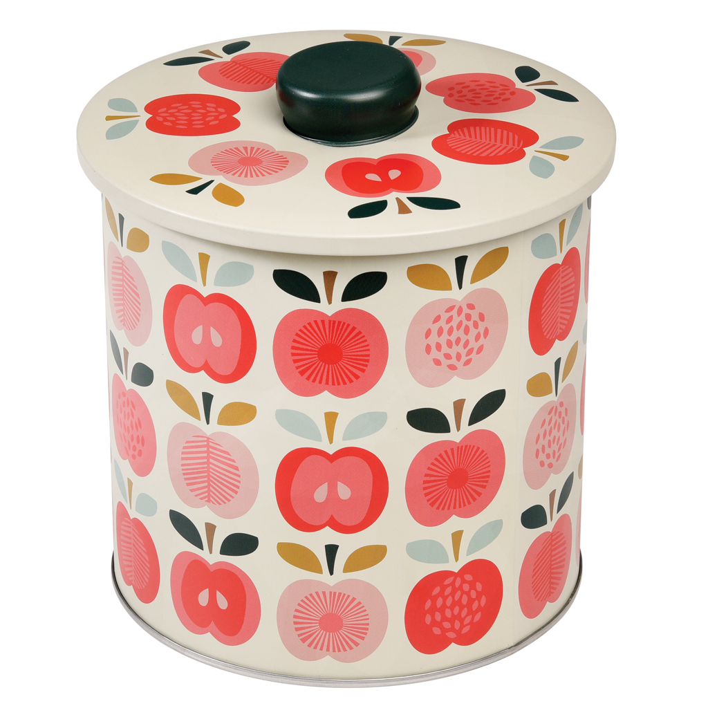Vintage Apple Biscuit Barrel Rex London At Dotcomgiftshop