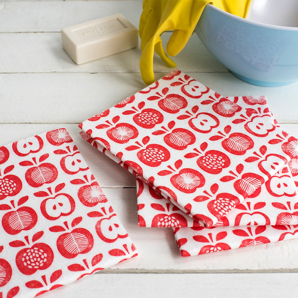 Vintage Apple kitchen cloths
