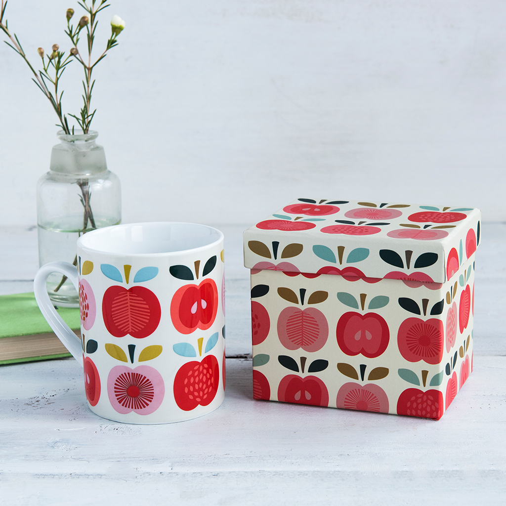 Vintage apple mug in gift box rex london at dotcomgiftshop for Vintage apple boxes