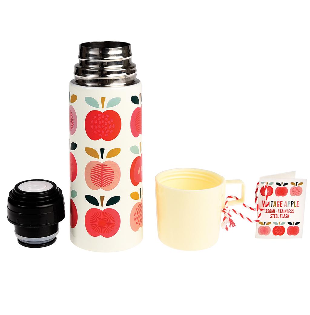 vintage apple flask and cup rex london dotcomgiftshop. Black Bedroom Furniture Sets. Home Design Ideas