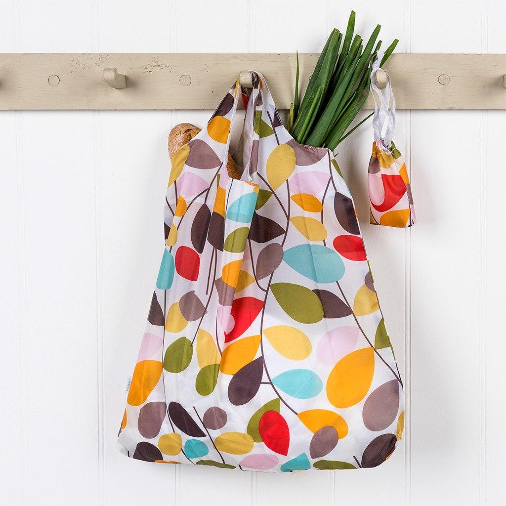 Vintage Ivy foldaway shopping bag