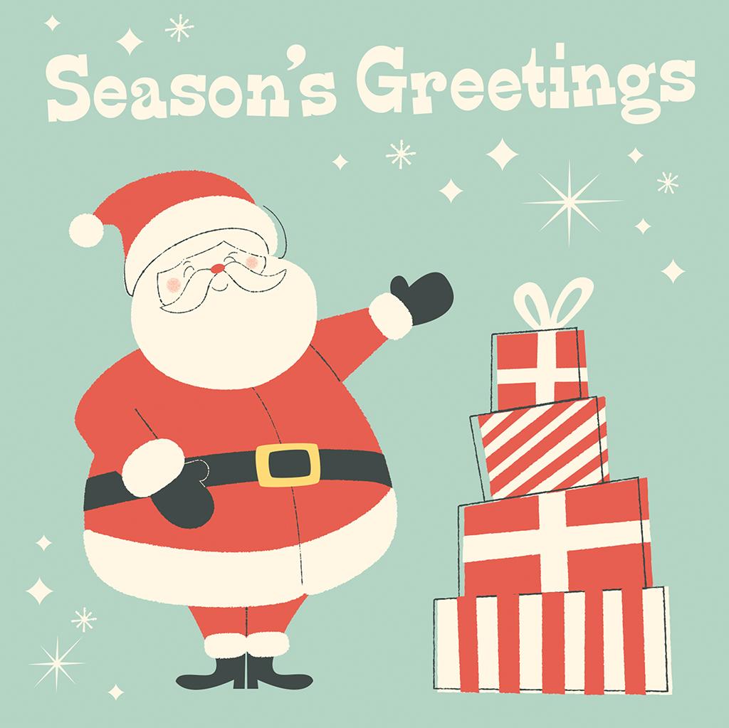 Festive Family Santa Christmas Card | Rex London (dotcomgiftshop)