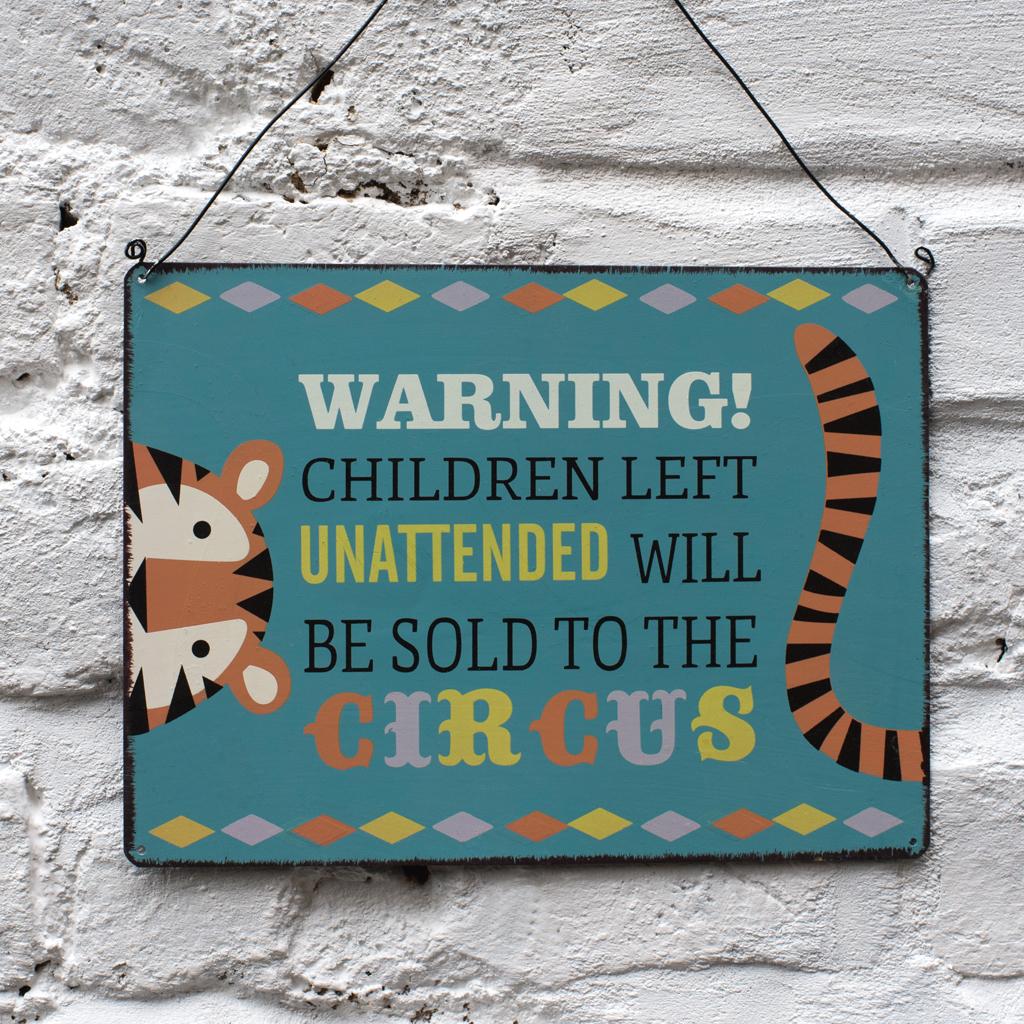 Warning! Children Left Unattended Sign | Rex London (dotcomgiftshop)