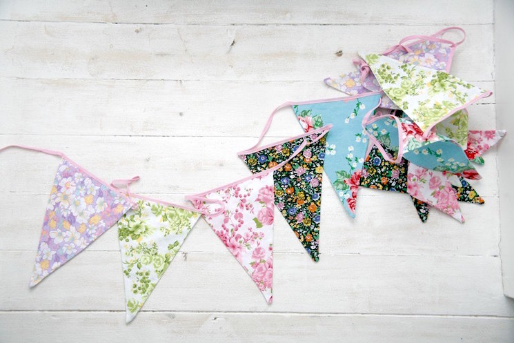 Washable floral bunting from dotcomgiftshop