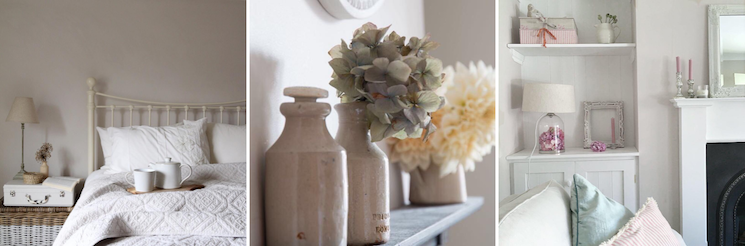 Faded blooms and calming tones in Laura's beautiful home