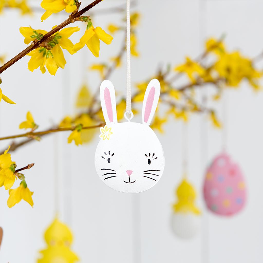White Easter Bunny Decoration   Rex London (dotcomgiftshop)