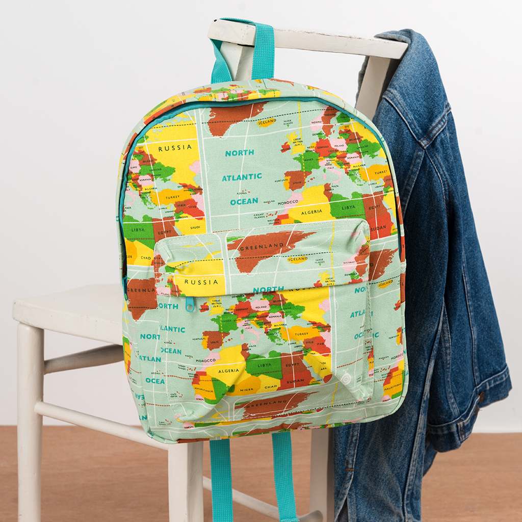 6b301f3fed World Map backpack for adults and teens