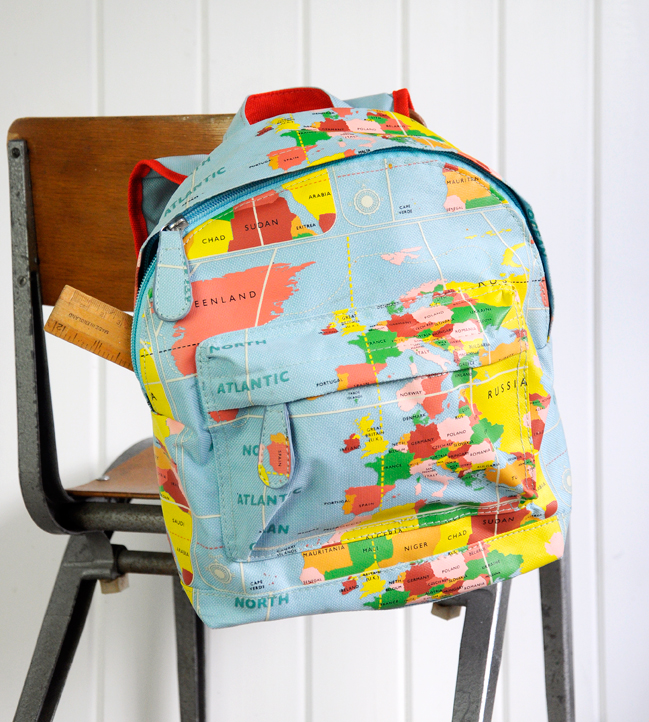 World map mini backpack rex london at dotcomgiftshop world map kids mini backpack gumiabroncs Images
