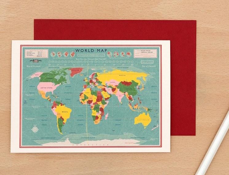 World map card design from dotcomgiftshop shop