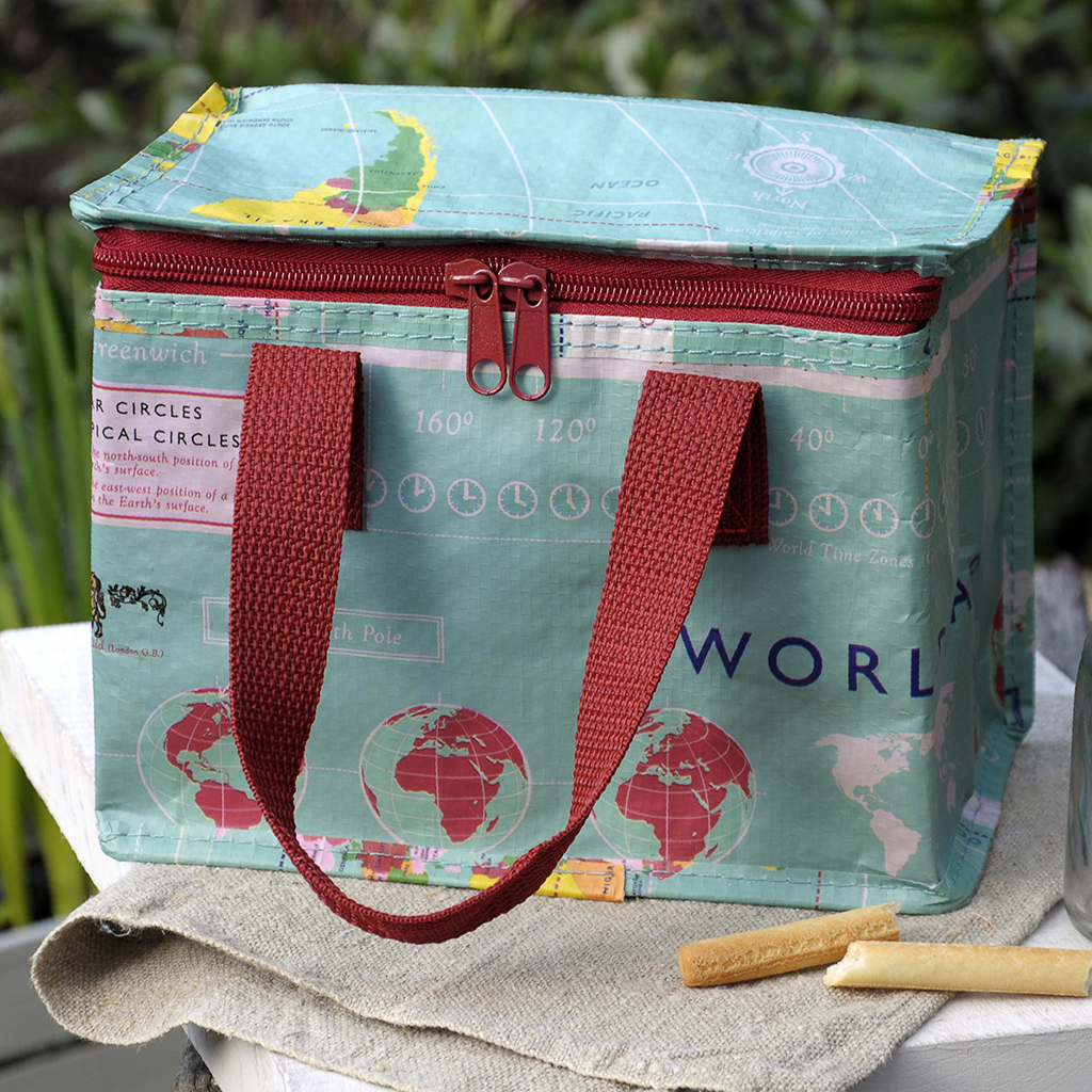 World map design lunch bag rex london dotcomgiftshop world map print lunch bag gumiabroncs Image collections