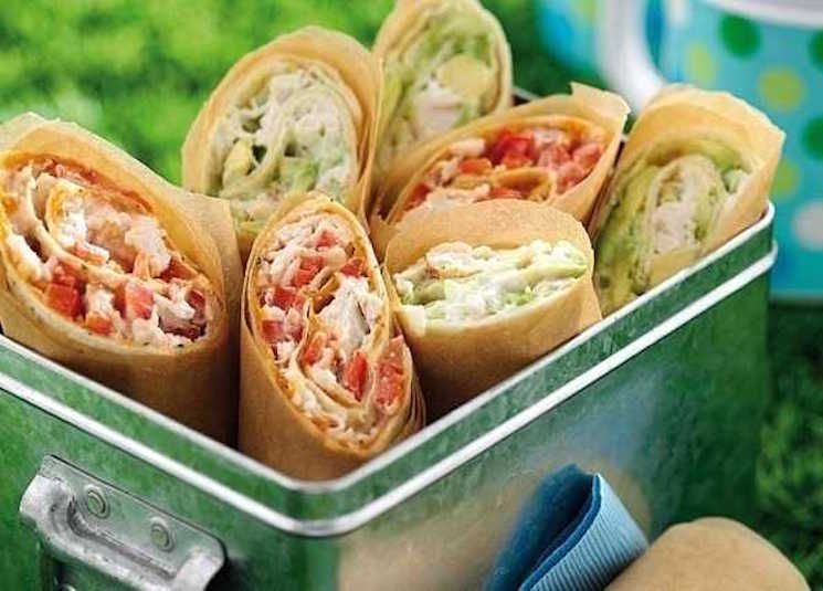 red and green wraps