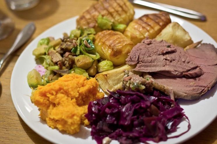 roast venison dinner