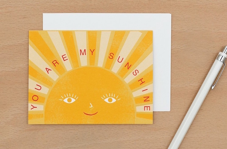 'You are my sunshine' card design by dotcomgiftshop